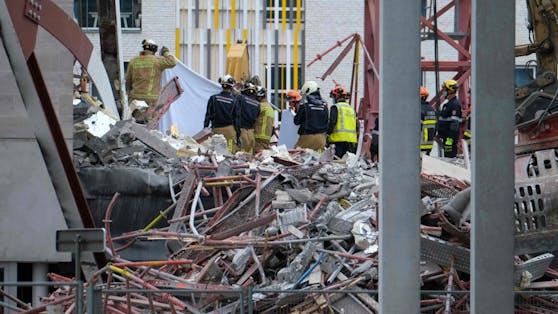 Am Freitag ist in Antwerpen der Neubau einer Schule eingestürzt. Mehrere Arbeiter wurden unter den Trümmern begraben, drei von ihnen starben.