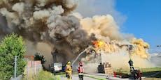 Alarm für Feuerwehren – Großbrand in Lackiererei in NÖ