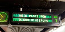 """""""Kein Platz für ..."""": Wiener Linien-Botschaft an Fahrgäste"""