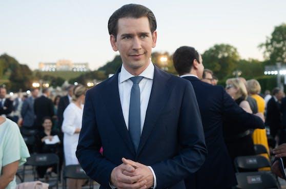 Bundeskanzler Sebastian Kurz (ÖVP) am Freitag, 18. Juni 2021, vor Beginn des Sommernachtskonzerts im Schlosspark Schönbrunn in Wien
