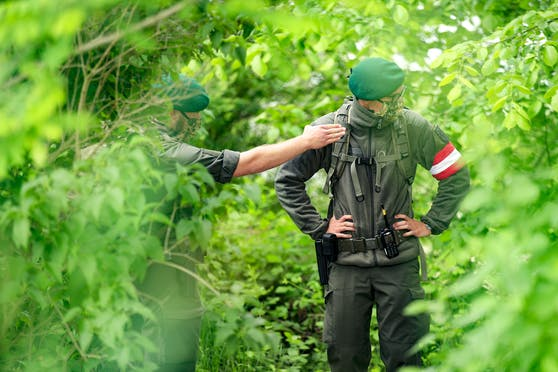 Milizsoldaten des Bundesheeres im Einsatz zur Grenzraumüberwachung. Archivbild