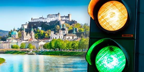 Salzburg ist neben Burgenland nun grün-gelb auf der Corona-Ampel.