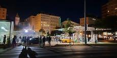 Lokale zu, Massen stürmen Tankstelle am Schwedenplatz
