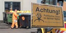 Islam-Schilder sind jetzt Fall für die Müllabfuhr