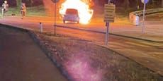Alko-Lenker verletzt Beifahrer bei Feuer-Crash in Wien