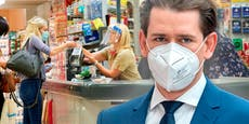 Kurz kündigt Masken-Aus in Öffis und Supermärkten an