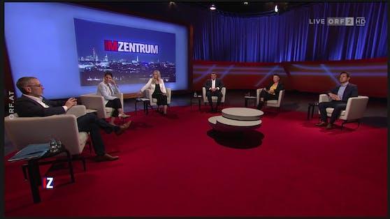 """Herbert Kickl bei der Sendung """"Im Zentrum"""""""