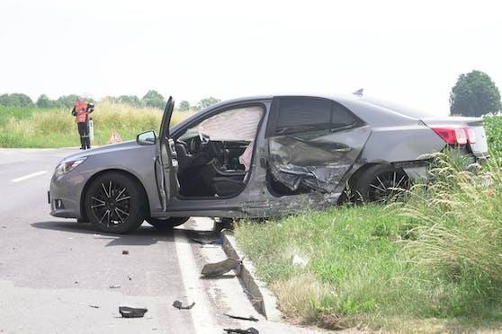 Eines der beiden Unfallwracks