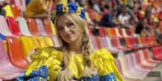 Sie ist Promi-Fan der Ukraine und teilt kräftig aus