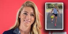 Fußball-Fieber: Ski-Star Shiffrin zeigt ihr Ballgefühl