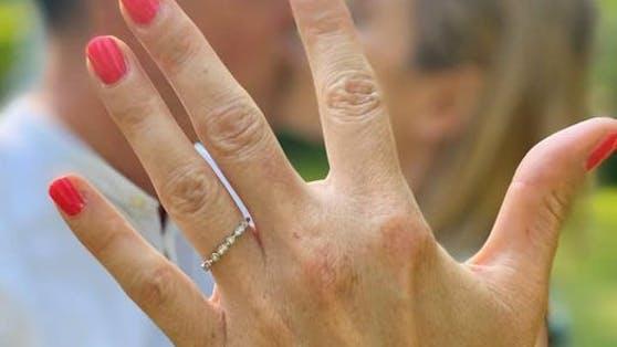 """Mandy Rossberg hat am Wochenende """"Ja"""" gesagt."""
