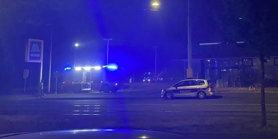 Eine Hofer-Filiale in Wien-Donaustadt brannte.