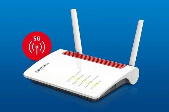 5G-Router mit WLAN Mesh, Telefonie und Smart Home von AVM.