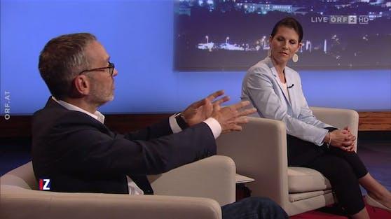 FPÖ-Chef Kickl machte Verfassungsministerin Edtstadler (ÖVP) zwei Angebote live auf Sendung.