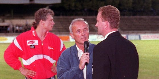 Peter Elstner mit Toni Polster und Herbert Prohaska.