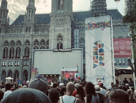 In Wien kam es zu einer Störaktion durch Unbekannte.