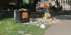 Rathausplatz voller Müll nach Wiener Regenbogenparade
