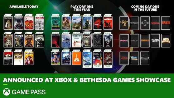 Xbox & Bethesda Games Showcase: Über 20 Spiele direkt zum Release im Xbox Game Pass.