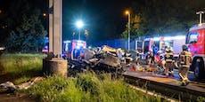Auto in die Luft katapultiert, Lenker (58) stirbt