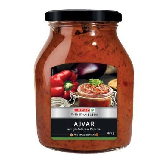 Spar Premium Ajvar im 330-Gramm-Glas wird zurückgerufen.
