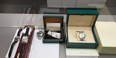 Zoll nimmt Schmuggler Luxus-Uhren um 155.000 Euro ab