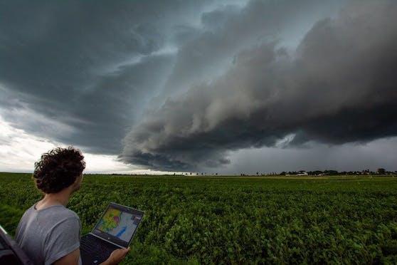 Unwetterzelle im Südburgenland mit Radardaten von UBIMET
