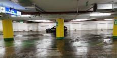 Gesperrt! Linzer Hauptplatz-Tiefgarage unter Wasser