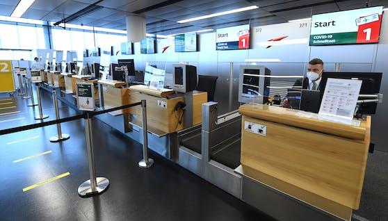 Check-in am Flughafen Schwechat (Archivfoto)