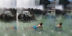 Darum rät Stadt Wien vom Baden in Brunnen ab