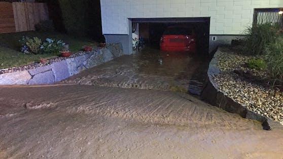 Starkregen flutete im unteren Mühlviertel zahlreiche Häuser.