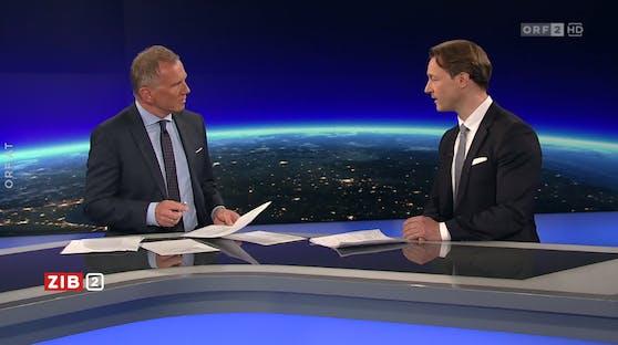 Finanzminister Gernot Blümel in der ZiB 2