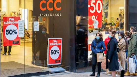 Ein CCC-Store im Räumungsverkauf (Symbolbild)
