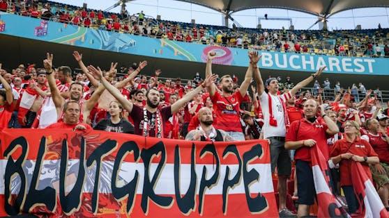 Die ÖFB-Fans sorgten in Bukarest für Stimmung.