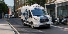 Ford und Hermes liefern Pakete im Robo-Lieferwagen aus