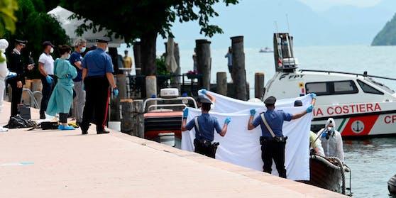 Italienische Ermittler untersuchen das Boot der Opfer