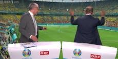Prohaska lässt sich live im ORF von ÖFB-Fans feiern
