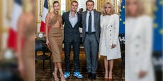 Skurril! Warum trifft Bieber Emmanuel Macron?