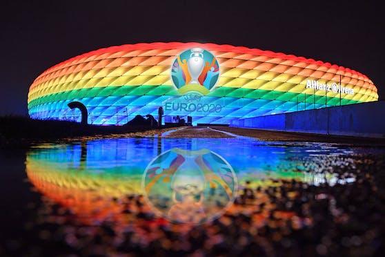 Die Allianz Arena leuchtet nicht in Regenbogen-Farben