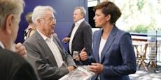 Ex-Präsident Fischer passiert bei Rendi beinahe Malheur