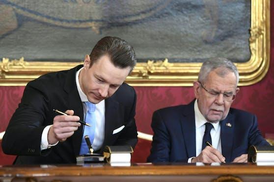 Bundespräsident Van der Bellen soll nun für die Causa Blümel-Aktenlieferungen zuständig sein.