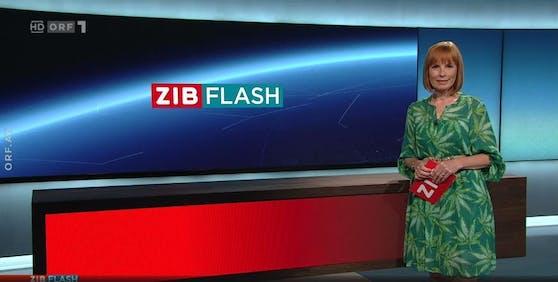 Christiane Wassertheurer im ZiB-Flash.