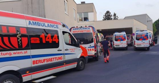 Mittwoch waren außergewöhnlich viele Rettungseinsätze im Gange