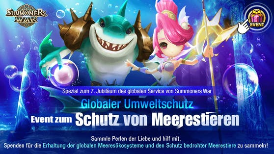 Summoners War-Entwickler Com2uS startet Operation: Rette die Meerestiere!