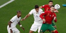 2:2! Portugal ist dank zwei Ronaldo-Elfern weiter