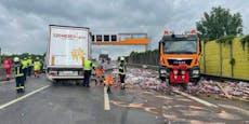 """Mega-Stau nach """"Colaflaschen""""-Unfall auf A1"""