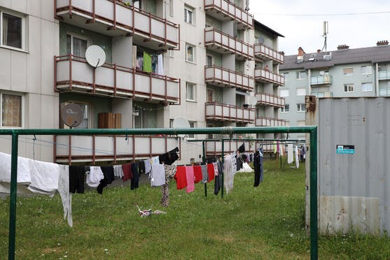 In dieser Wohnanlage in Wels ereignete sich der Zwischenfall.