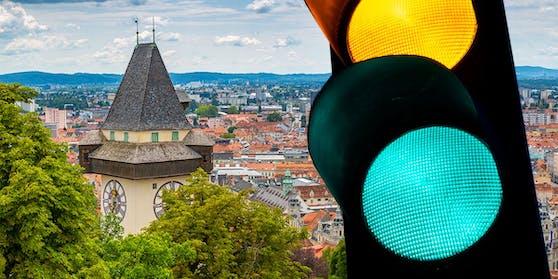 Die Steiermark wird auf der Corona-Ampel wieder grün eingefärbt.