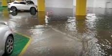 Hagel-Sturm in Linz: Autos kaputt, Tiefgarage geflutet