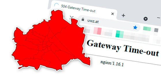 Die Server der UWZ gingen während des Unwetters in Wien in die Knie.