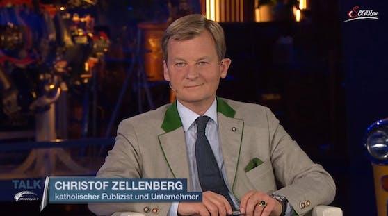 Der katholische Journalist Christoph Zellenberg sorgt mit einen Aussagen fast für einen Sendungs-Abbruch.